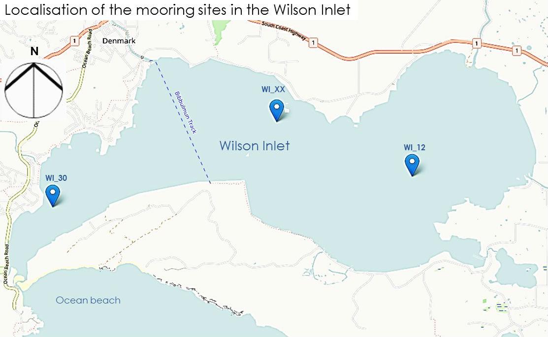 Mooring sites in the Wilson Inlet