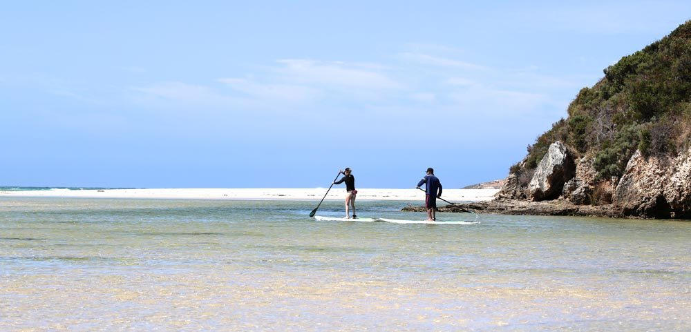 Paddle boarders at the Inlet entrance, March 2018