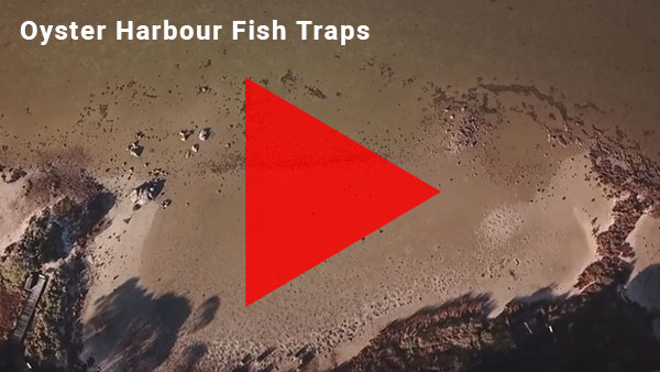 Aerial footage of the indigenous fish traps at Oyster Harbour